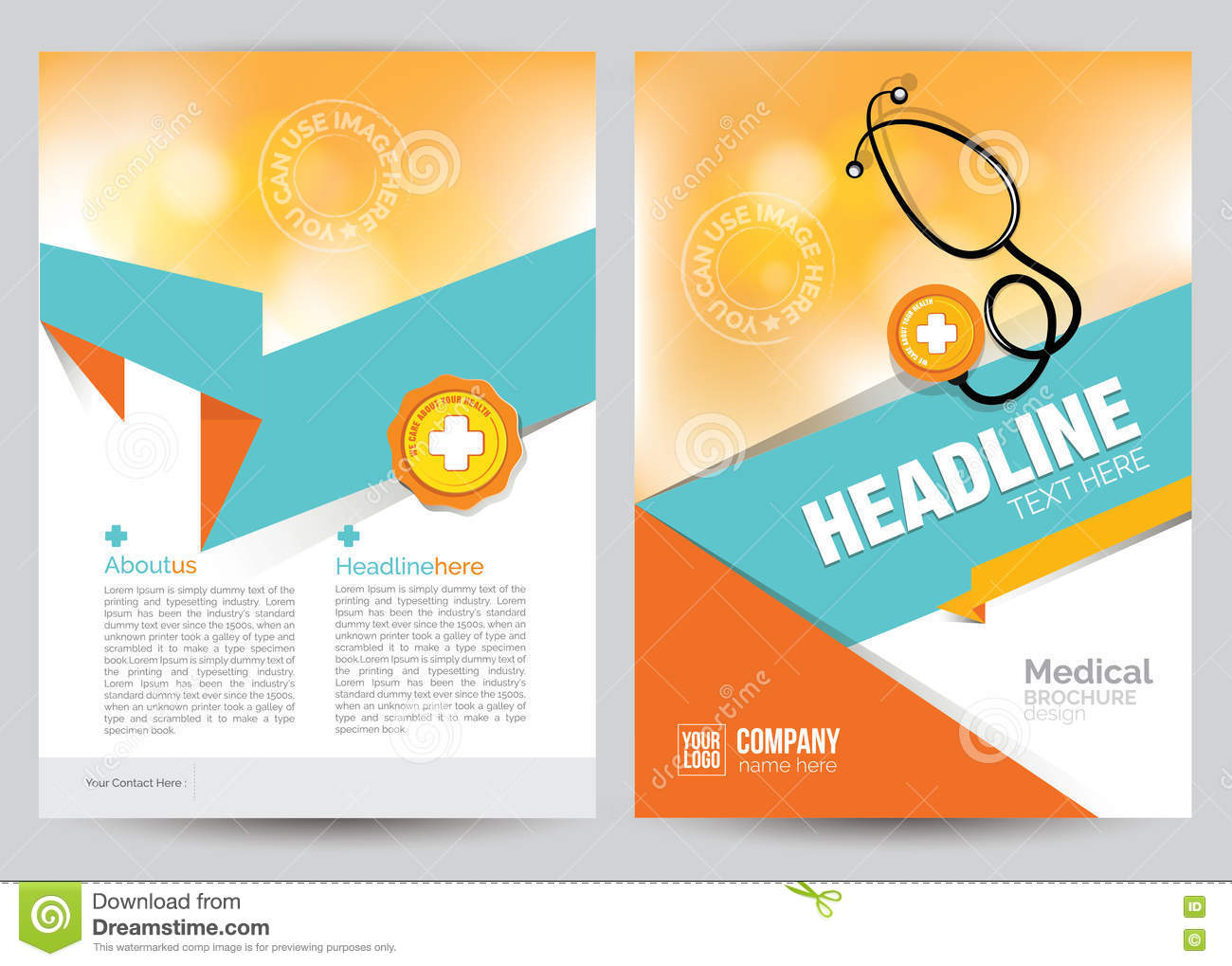 healthcare brochure templates - medical brochure flyer layout template a4 size stock