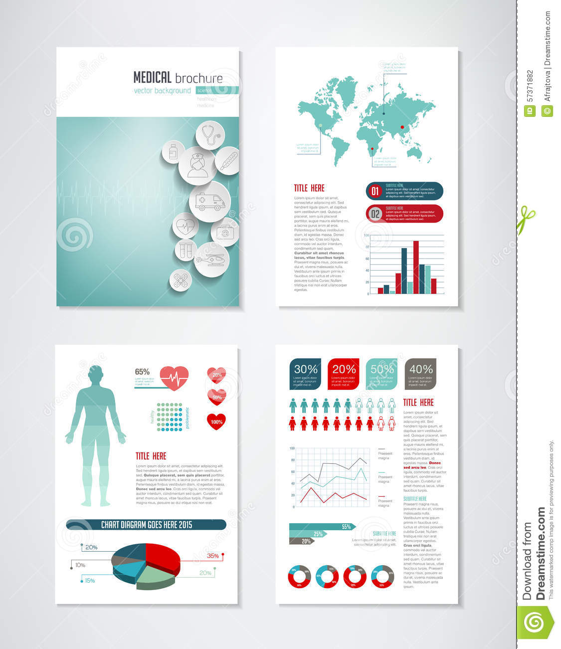 Medical Brochure Infographics Stock Vector Illustration - Free medical brochure templates