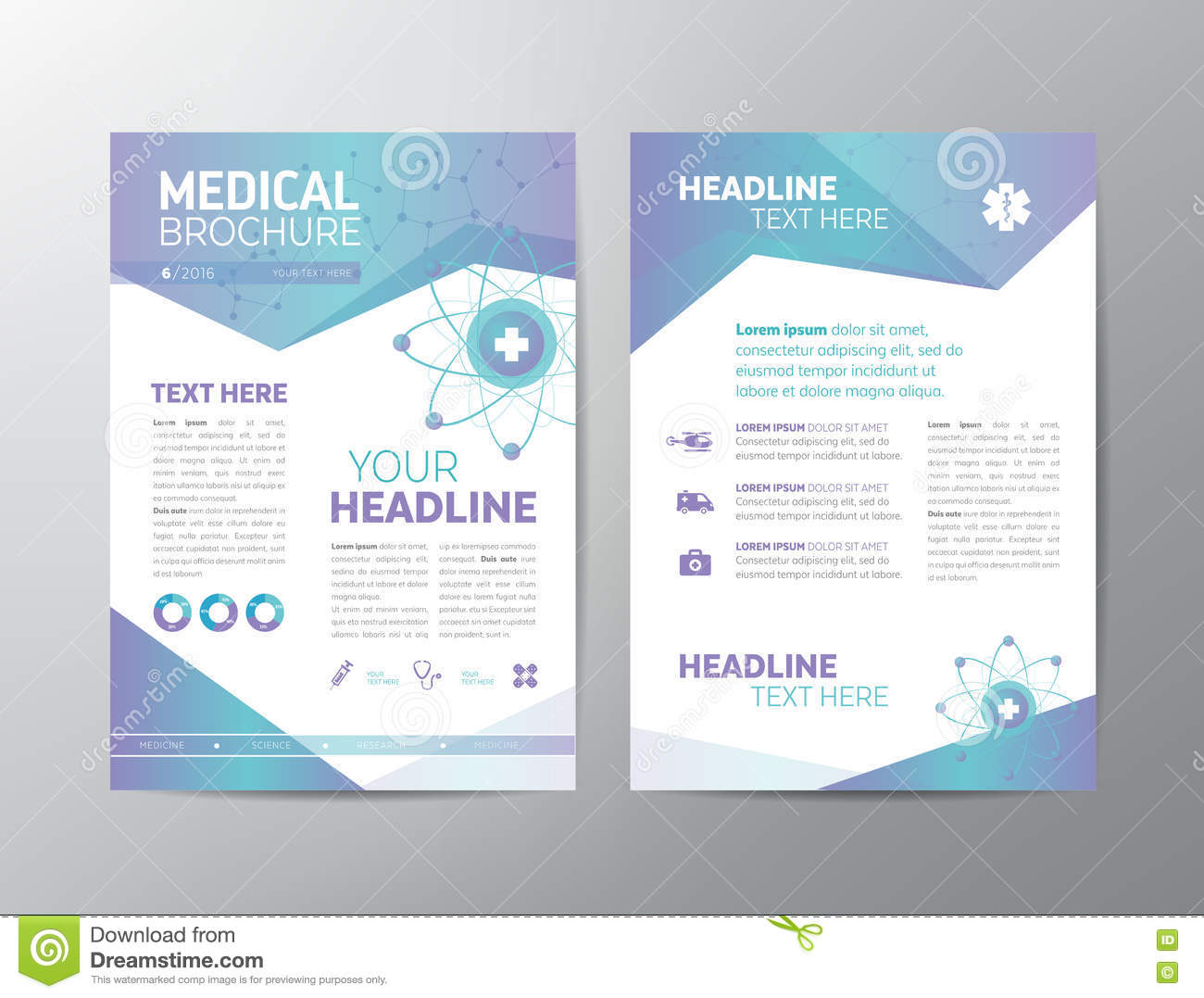 medical brochures templates - medical brochure leaflet stock vector illustration of