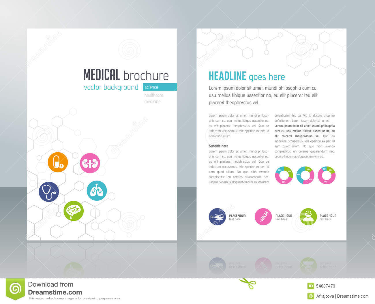 Medical Brochure Template Stock Vector Illustration Of Editable - Free medical brochure templates