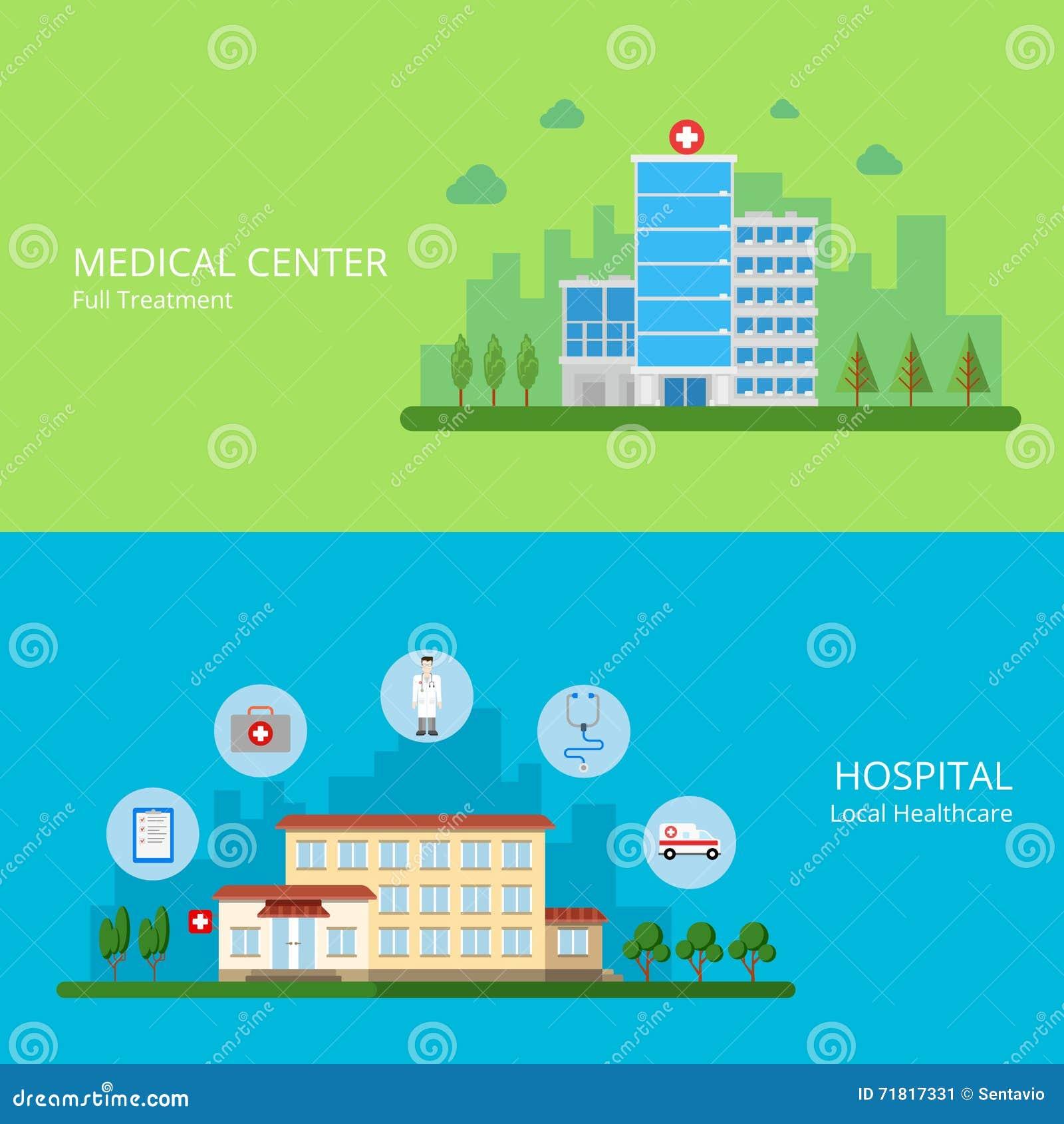 Medical Center Full Treatment Hospital Local Healt Stock