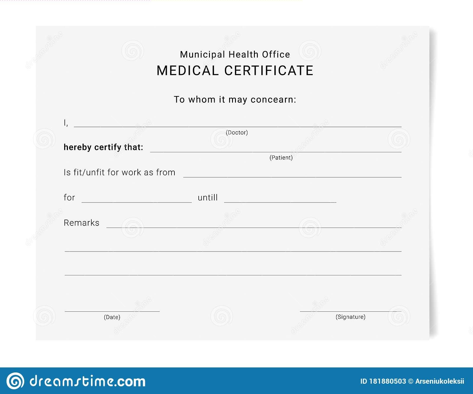 Sick Leave Stock Illustrations – 21 Sick Leave Stock Intended For Free Fake Medical Certificate Template