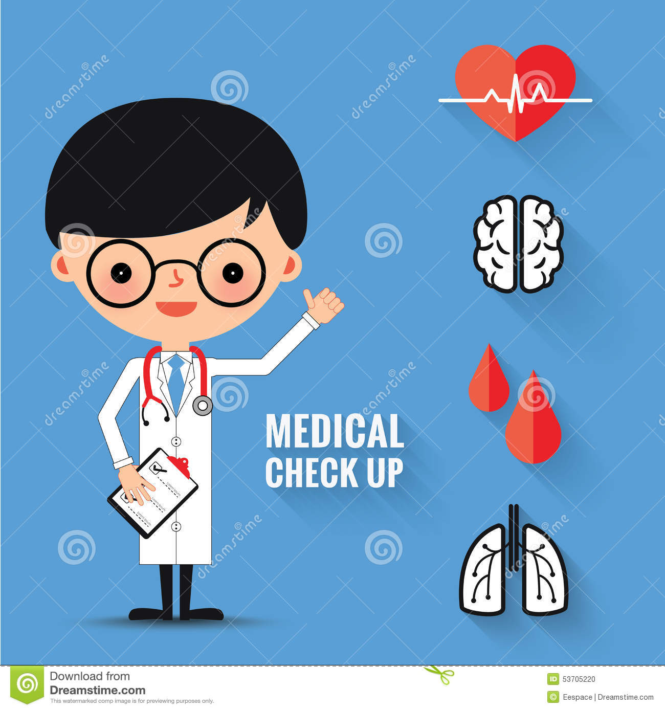 Medical Check Up With Man Doctor Characters. Stock Vector ...