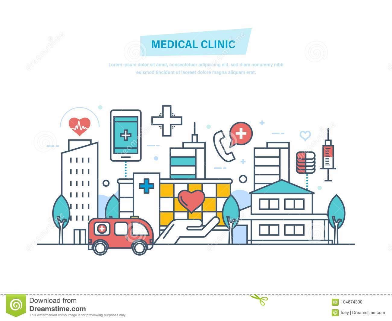 Medical clinic city hospital building healthcare system and download medical clinic city hospital building healthcare system and medical facility stock vector ccuart Gallery