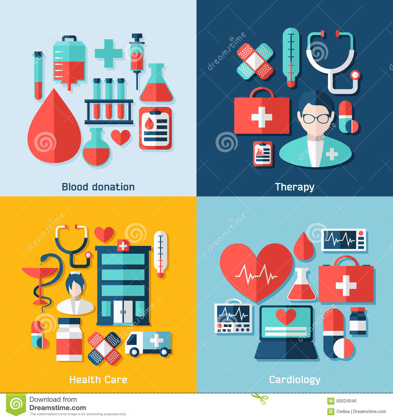 Medical concept with infographic elements