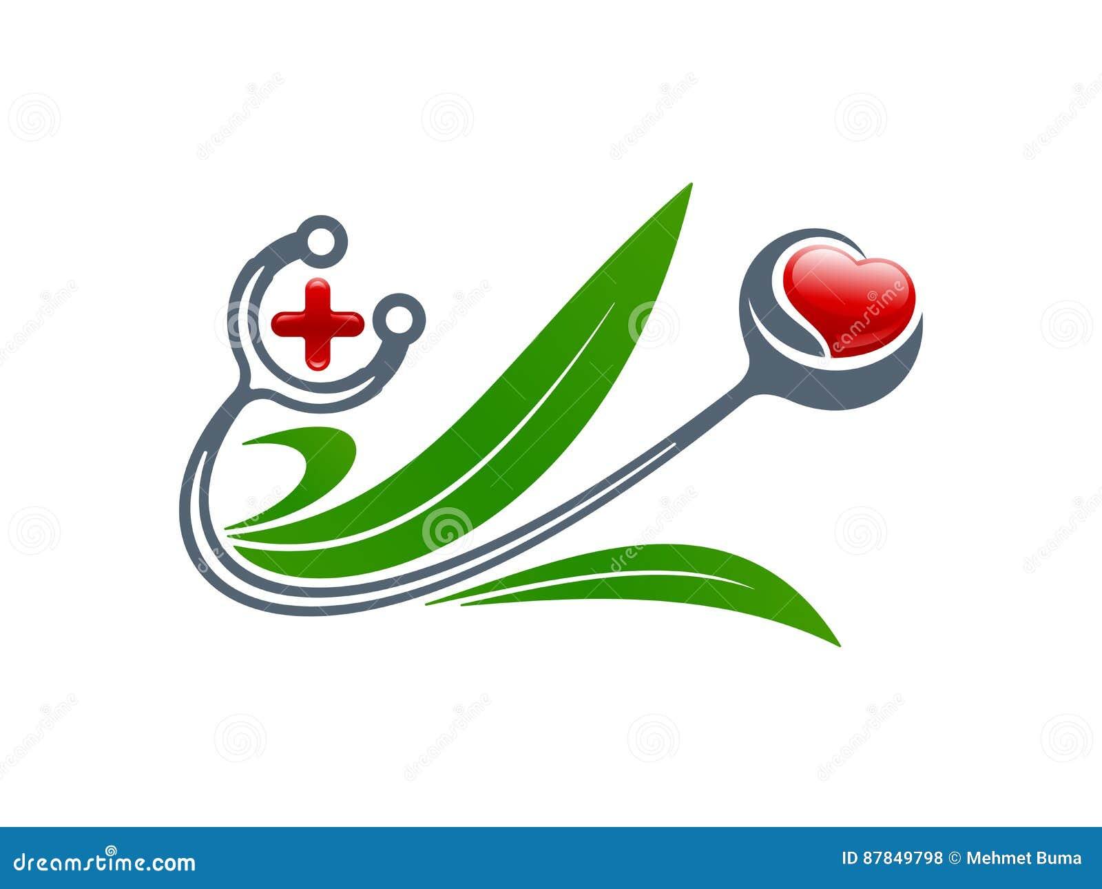 Medical concept stethoscope heart cross leaves symbols vect stethoscope heart cross leaves symbols vect buycottarizona