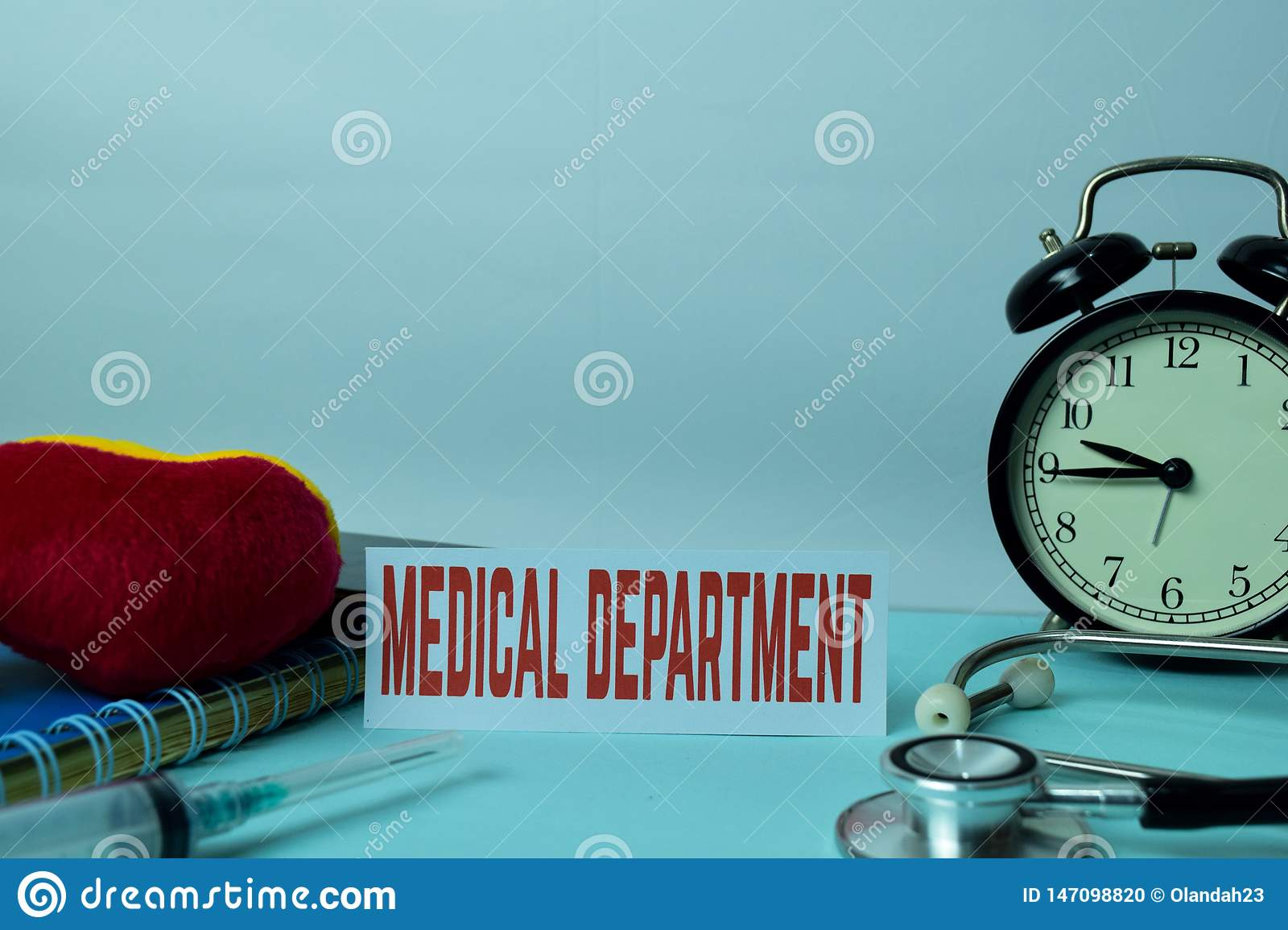 Medical Department Planning on Background of Working Table with Office Supplies. Medical and Healthcare Concept Planning on White