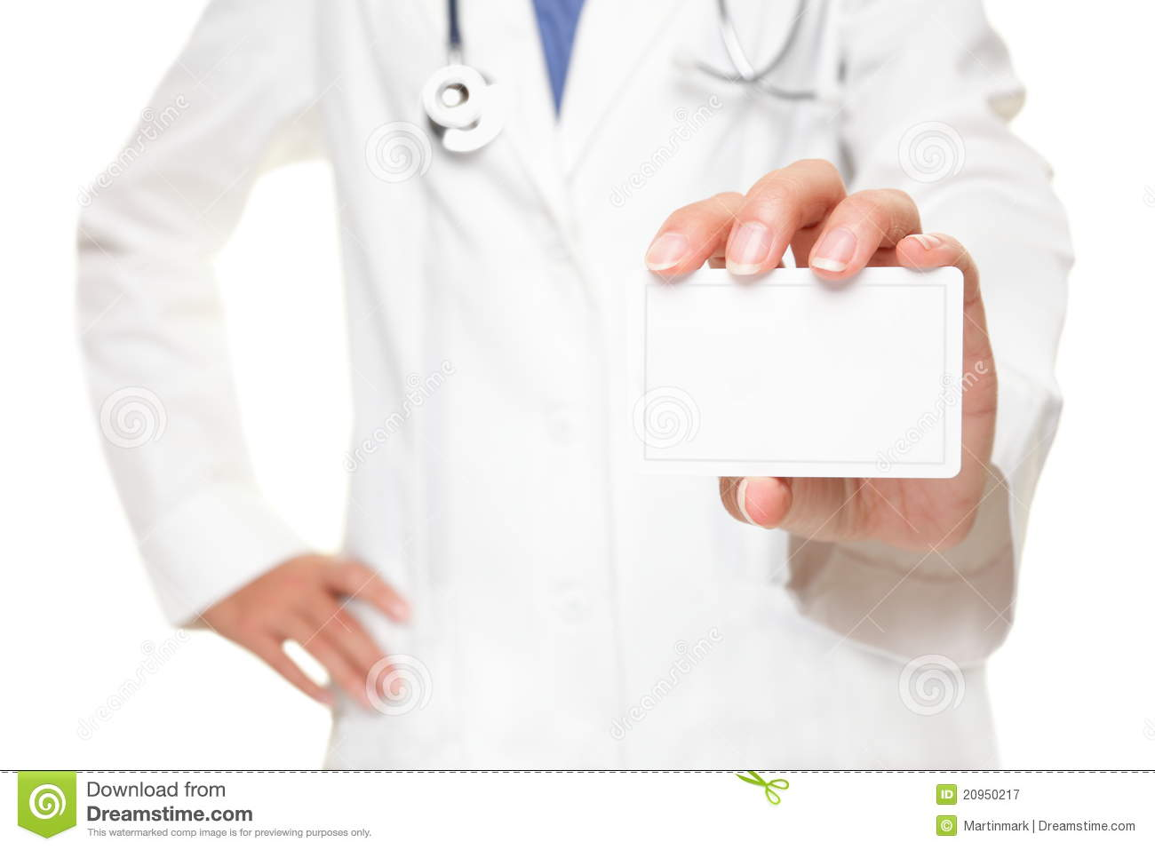 Medical Doctor Business Card Sign Stock Image - Image of isolated ...