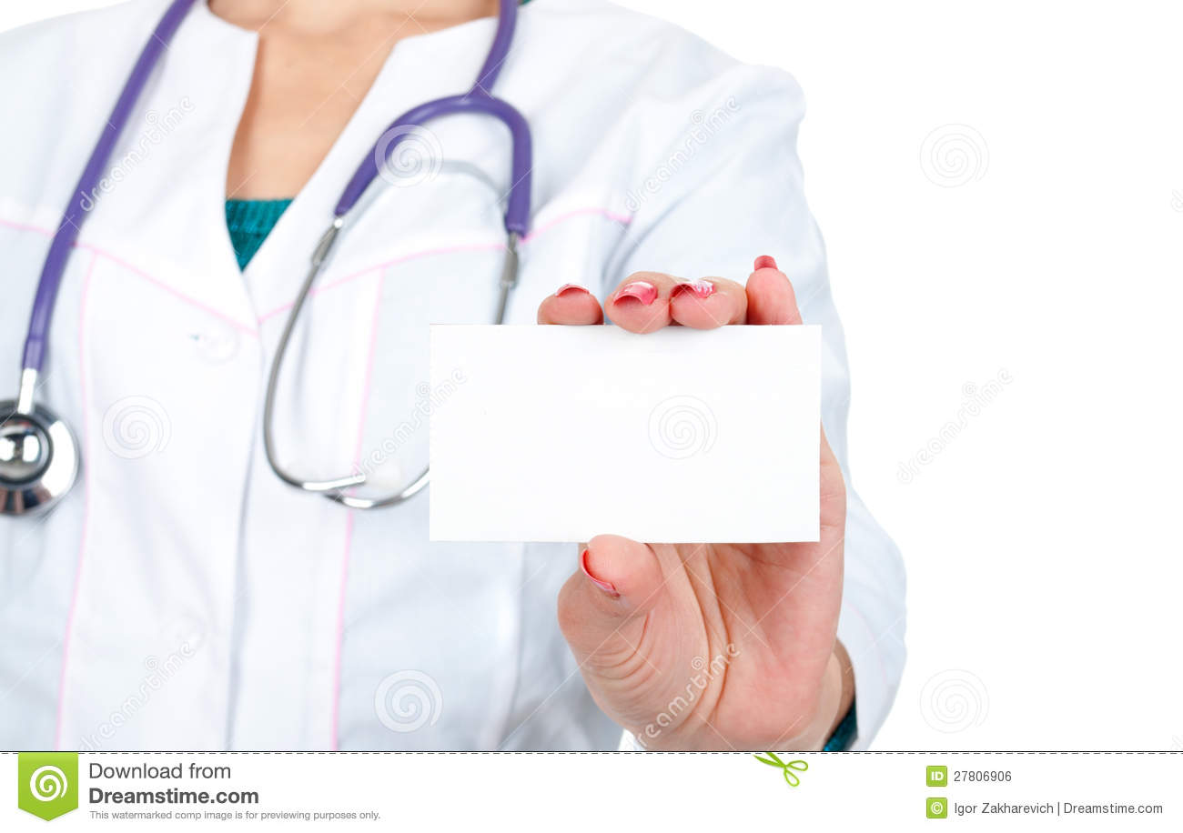 Medical doctor showing business card stock photo image 27806906 royalty free stock photo download medical doctor showing business card magicingreecefo Images
