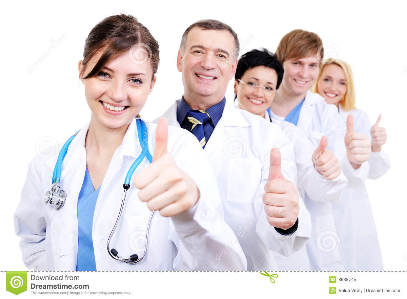 Medical Doctors Giving Thumbs-up Royalty Free Stock Photo - Image ...