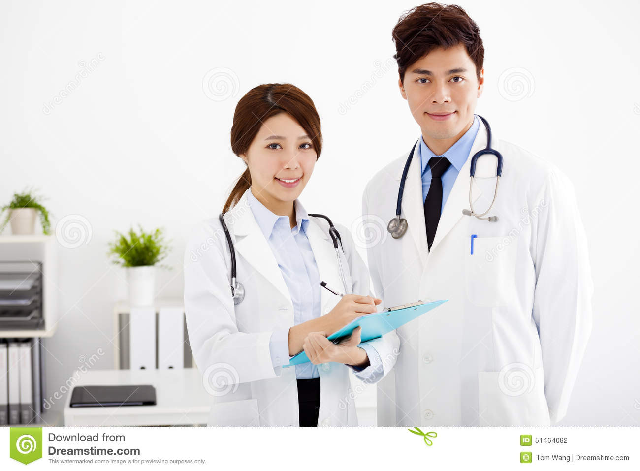 Medical Doctors Working In A Hospital Office Stock Photo Image Of