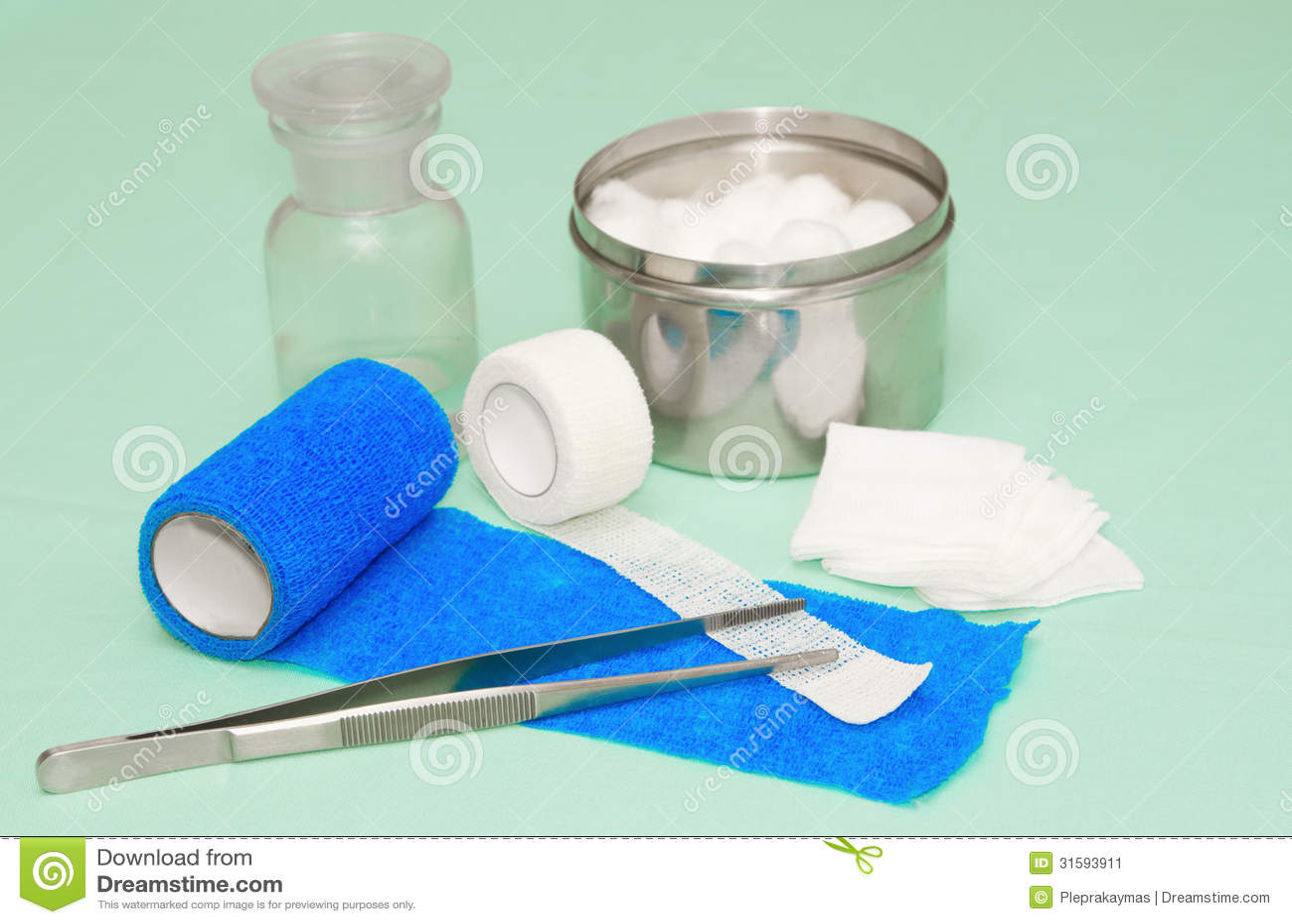 medical dressing wound kit stock image image 31593911. Black Bedroom Furniture Sets. Home Design Ideas