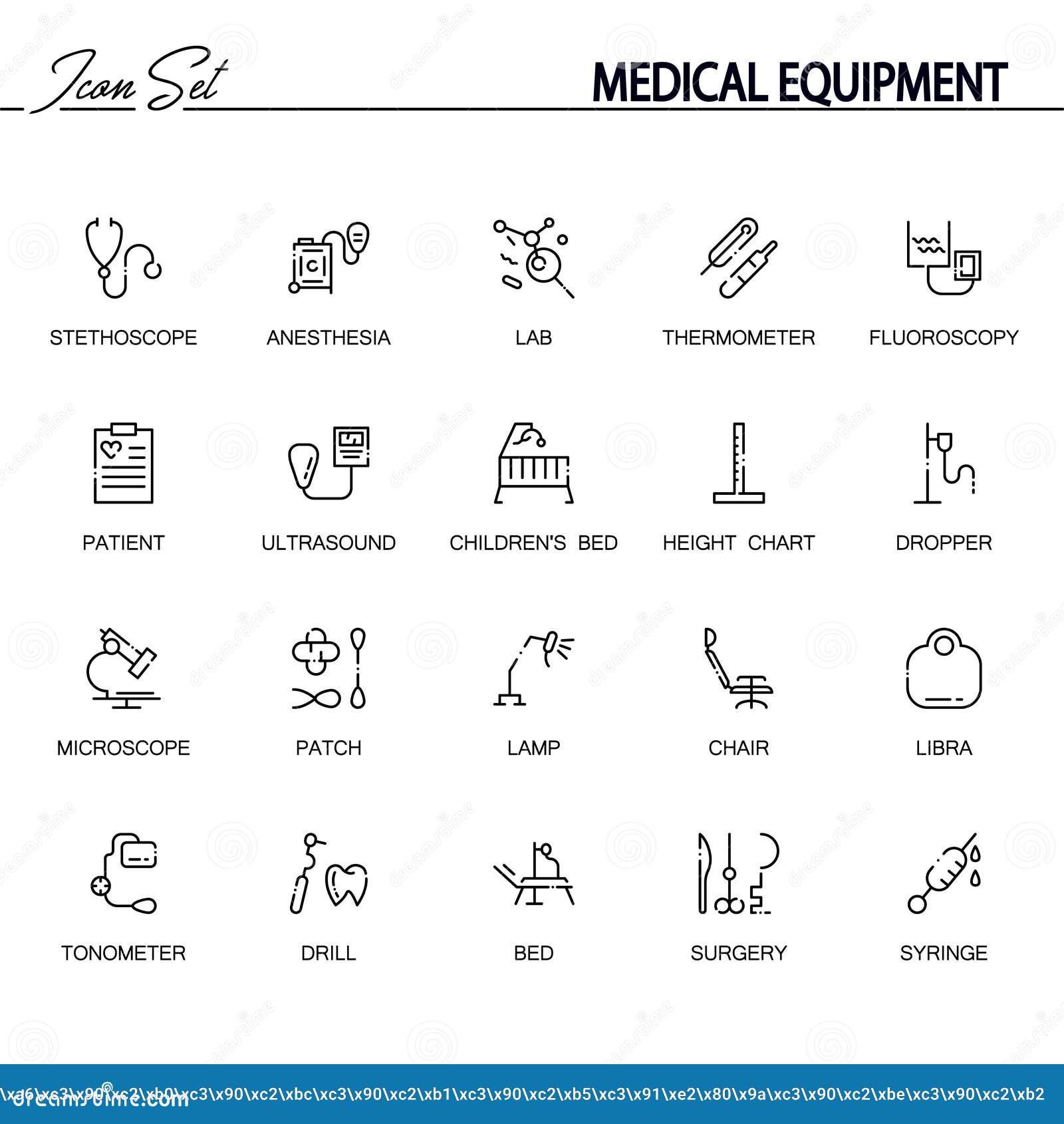 Medical equipment icon set stock vector illustration of icon 83425983 medical equipment icon set band nurse biocorpaavc Choice Image