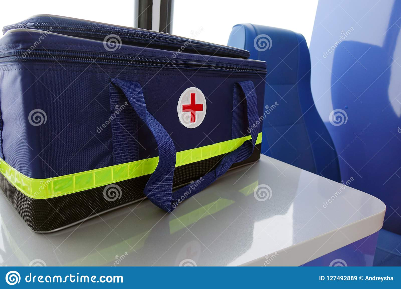 Medical Equipment Inside The Ambulance   Stock Image - Image