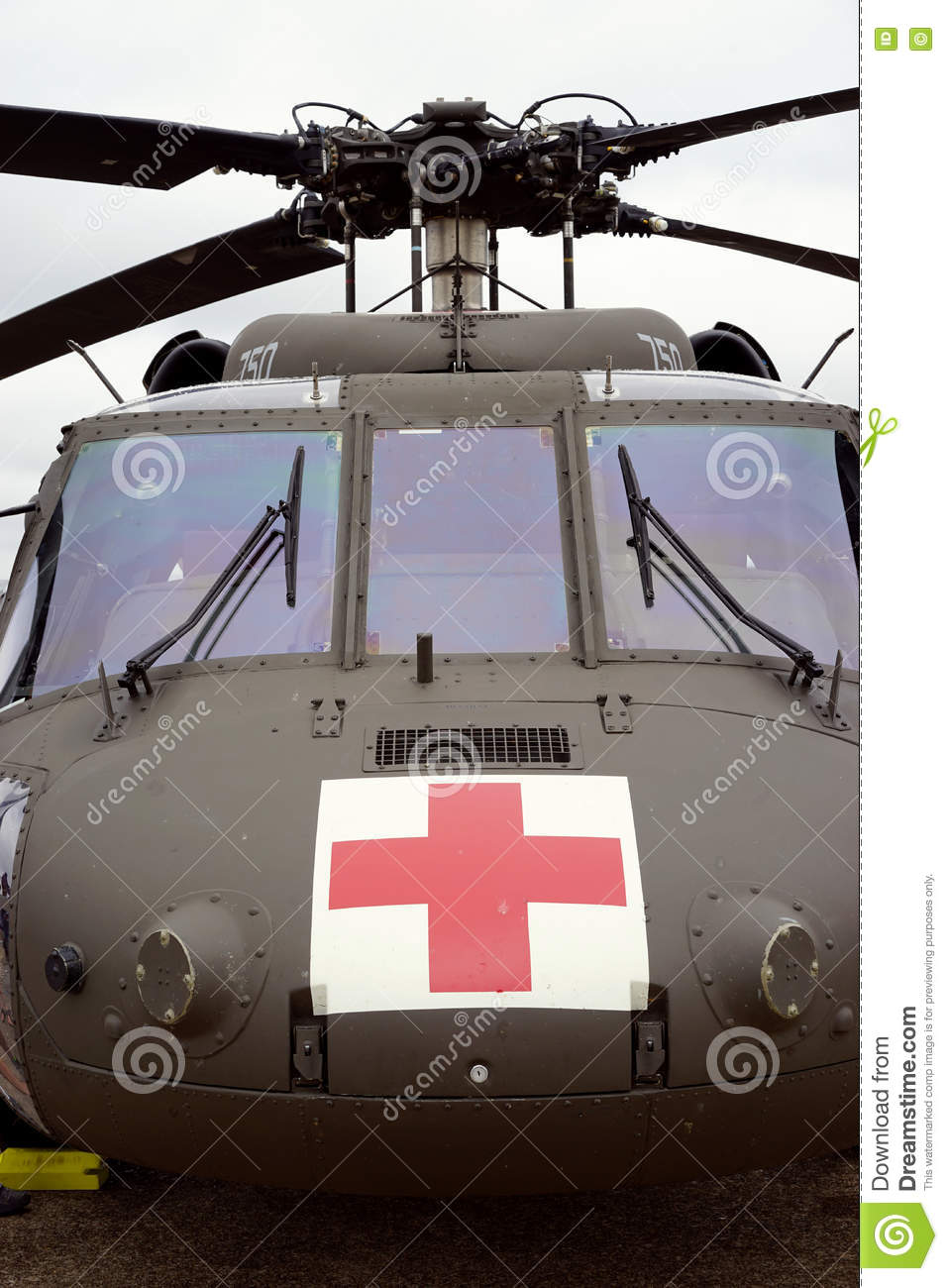 Medical Evacuation Helicopter Stock Image - Image of