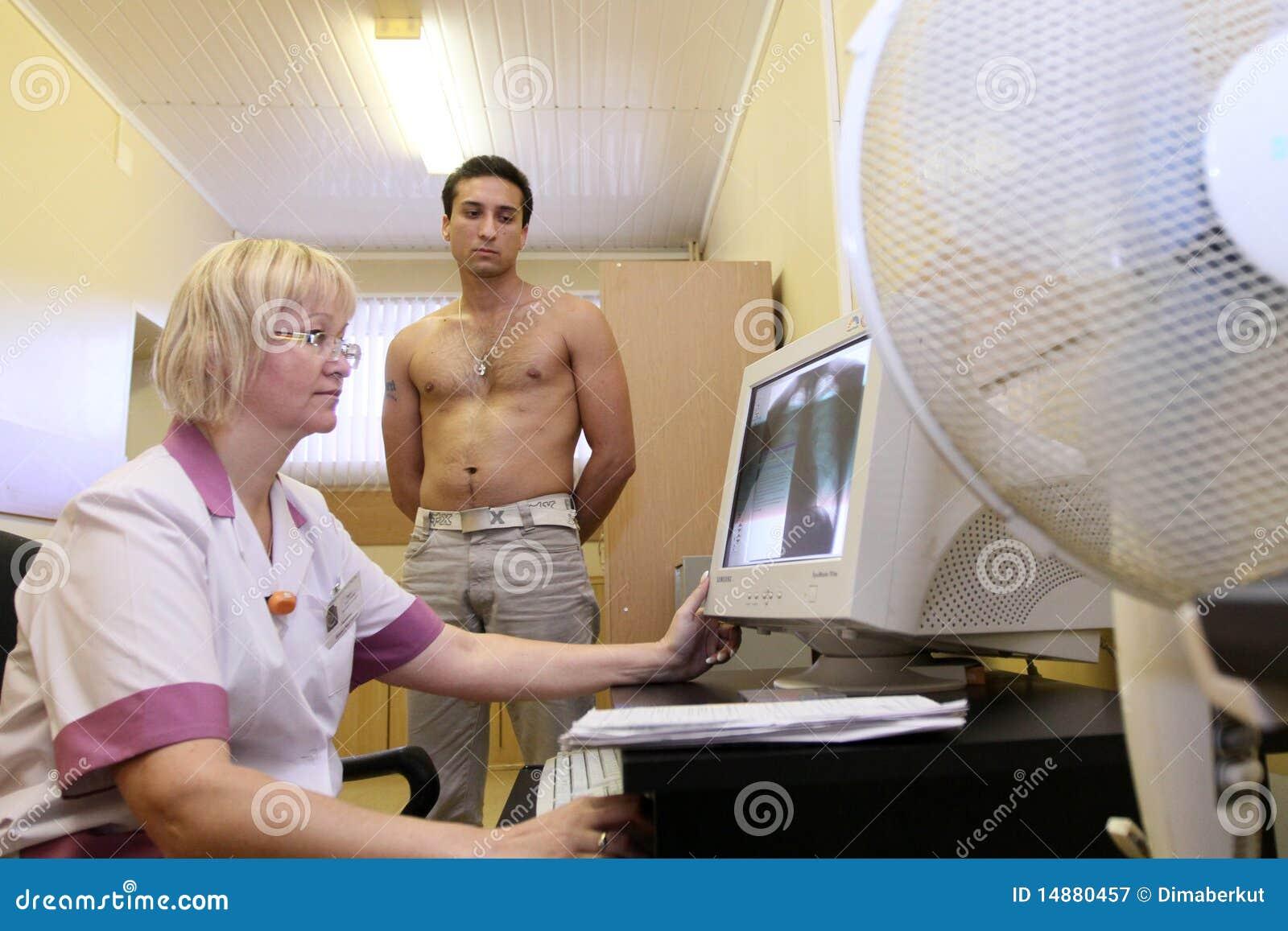 Female Doctor Male Exam