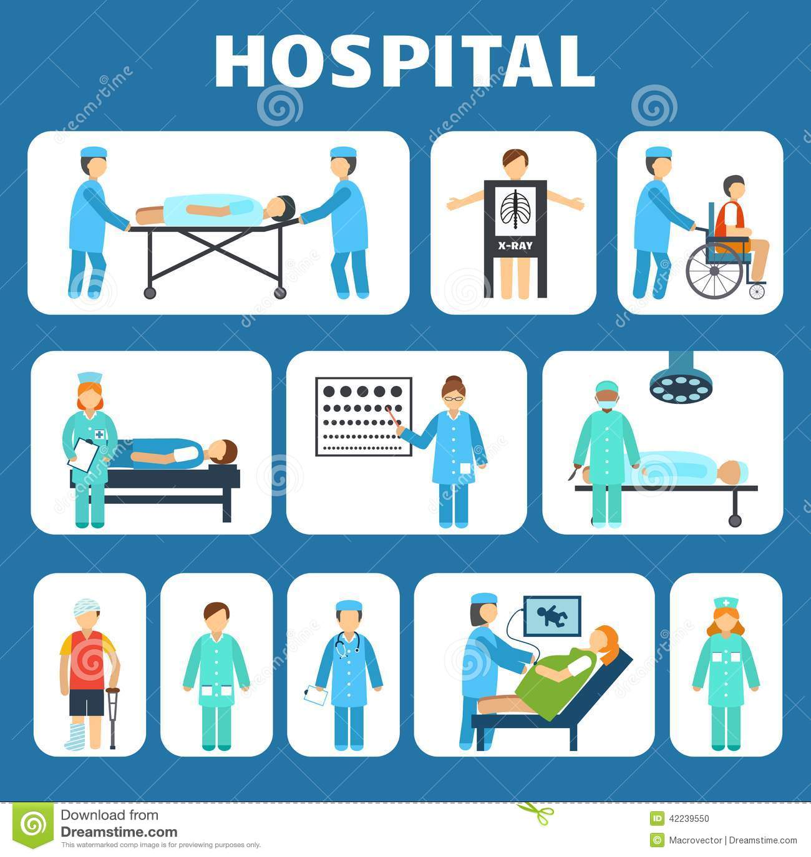 Medical Flat Pictograms Set Stock Vector - Image: 42239550