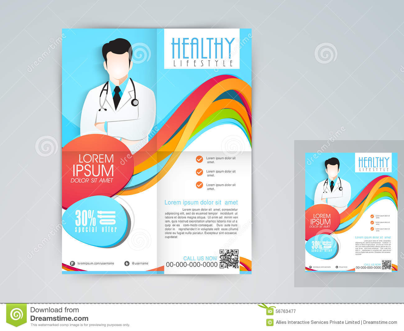 medical flyer banner or brochure stock illustration illustration