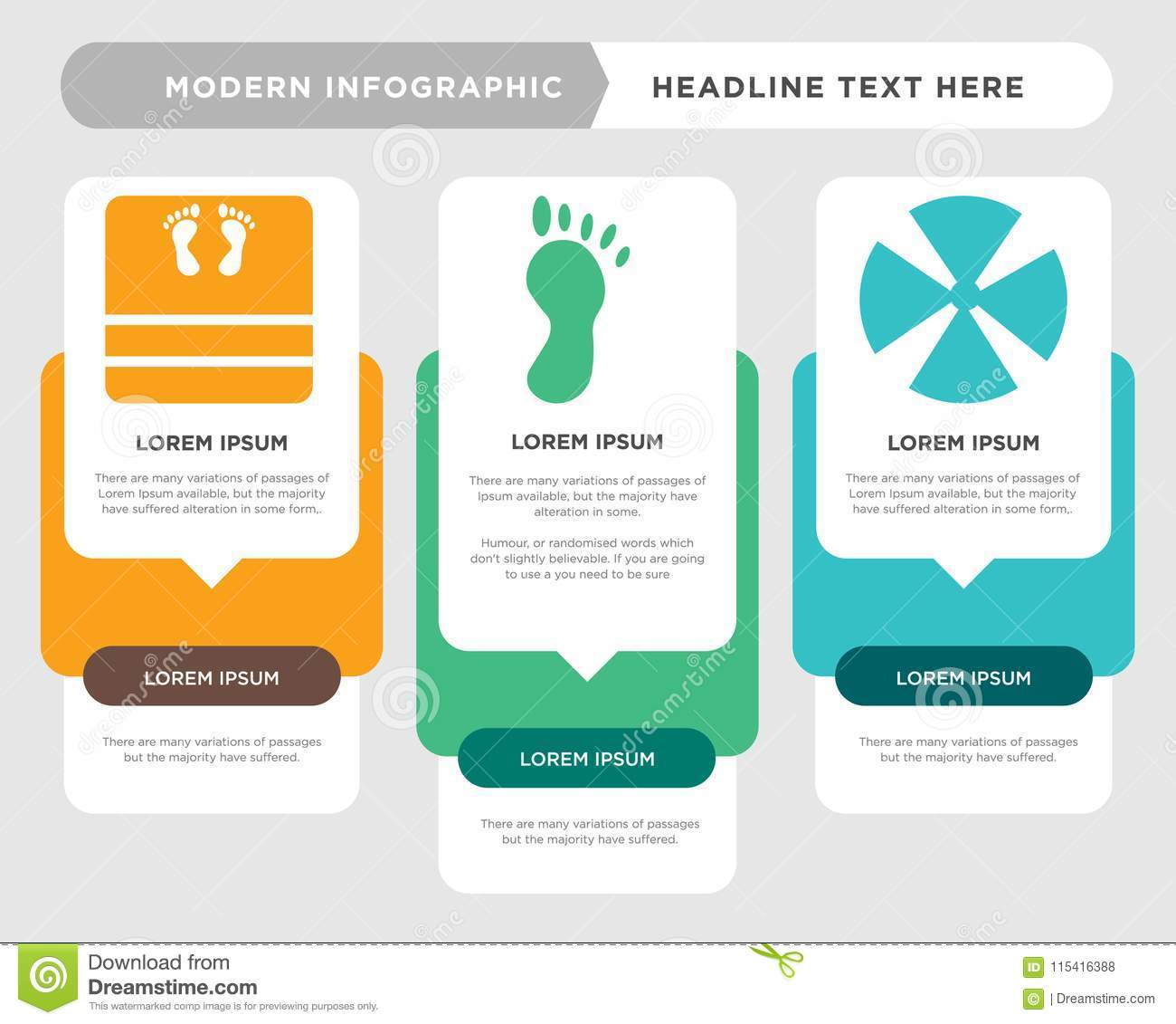 medical business infographic template, the concept is option step with full  color icon can be used for foot diagram infograph chart business  presentation or