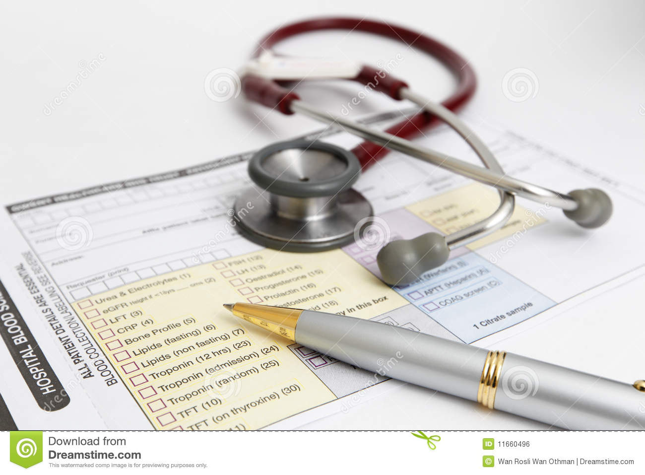 Medical Form Stethoscope Royalty Free Image Image 11660496 – Medical Form