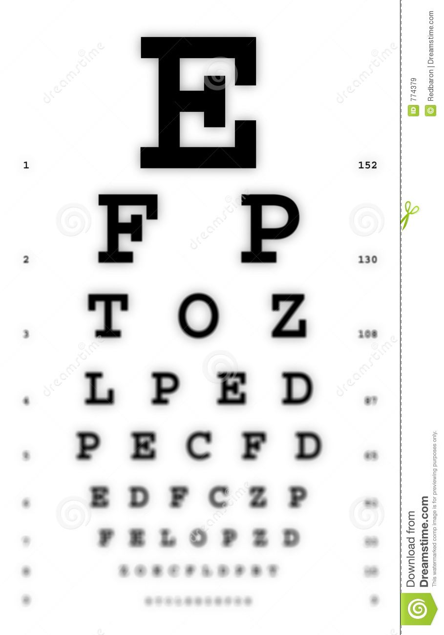 Medical fuzzy sight of eye chart stock image image 774379 medical fuzzy sight of eye chart nvjuhfo Image collections