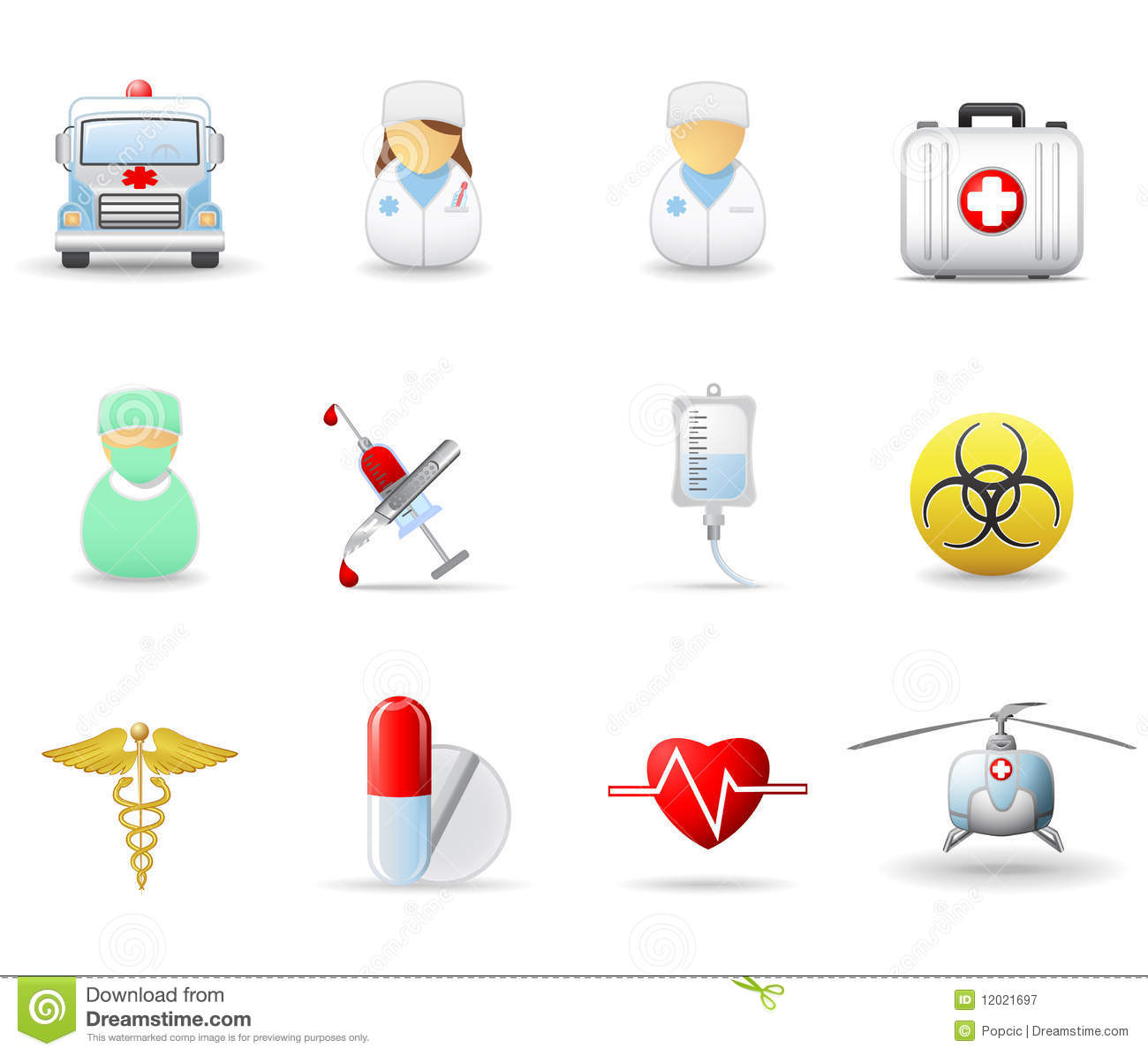 Medical And Health care Icons Part 2 Royalty Free Stock