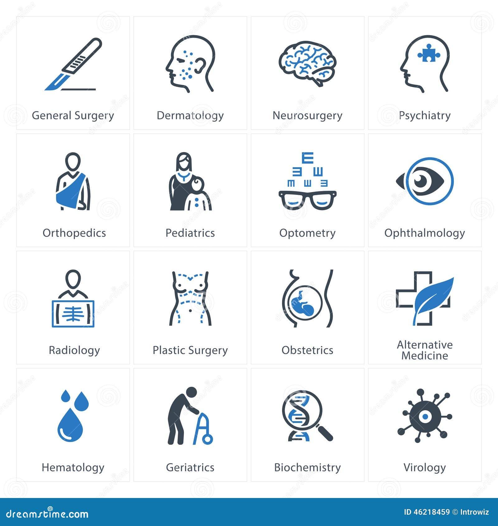 Specialties: Medical Specialties Icons Set 1