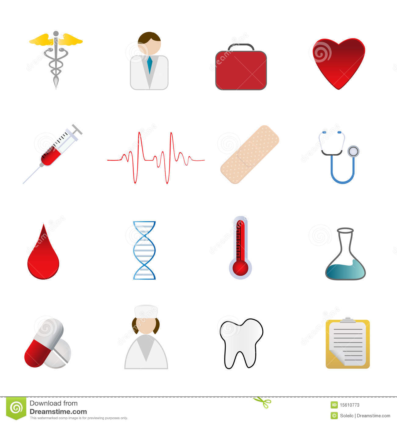 Medical Health Care Symbols Stock Vector - Illustration of ...
