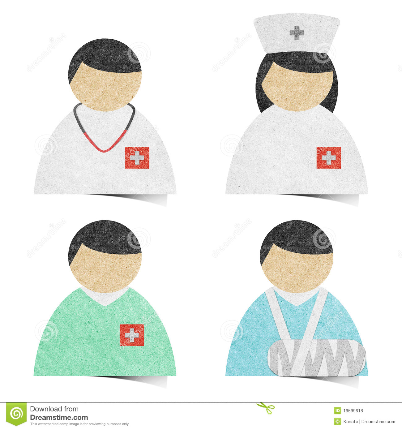 Medical health care tag recycled paper craft royalty for Health craft cookware reviews
