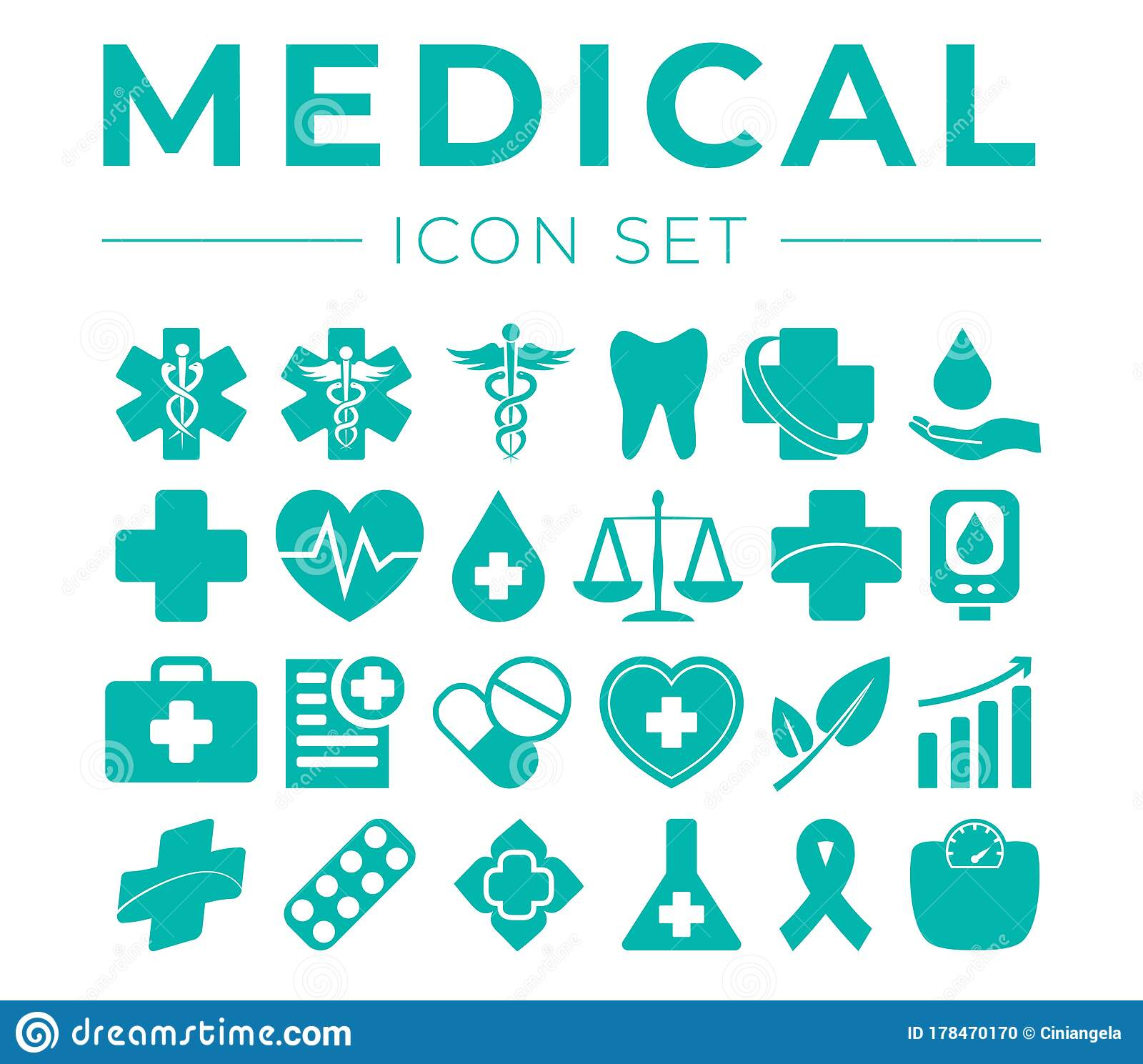 Medical And Health Icon Set With Medicine Icons Stock Vector Illustration Of Dental Healthcare 178470170 .cc attribution icons in this pack: dreamstime com