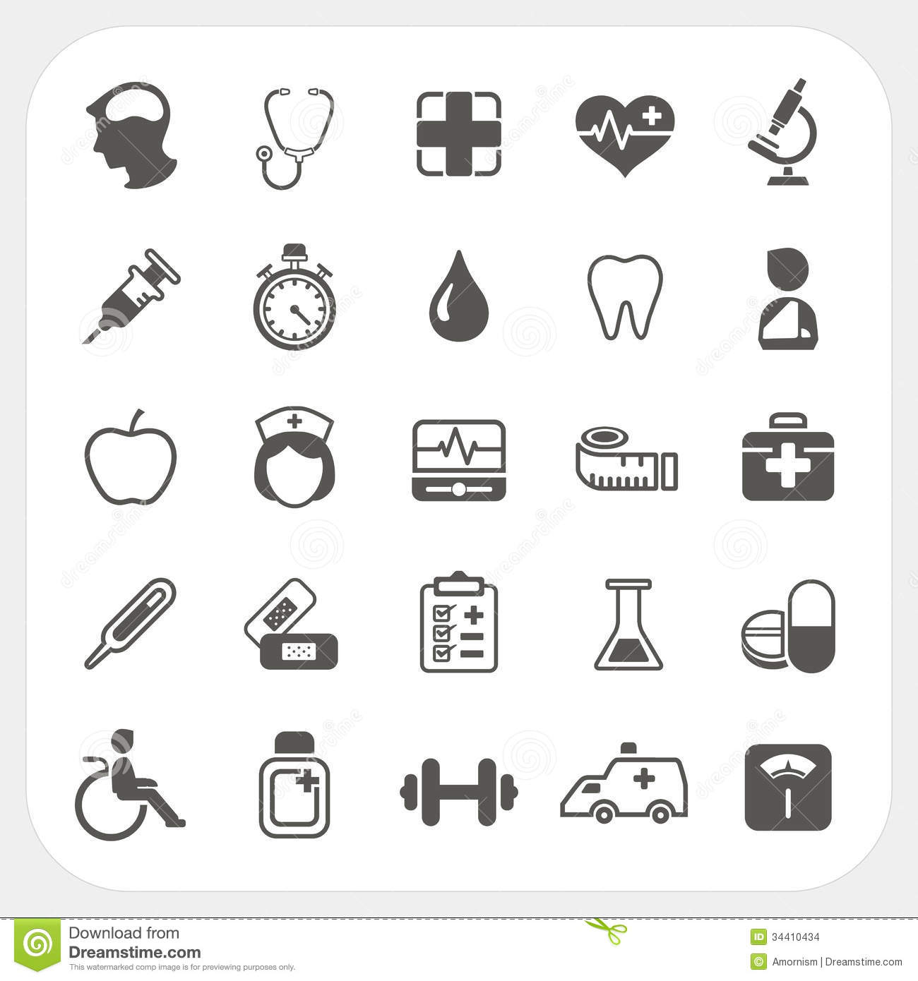 Medical And Health Icons Set Stock Images - Image: 34410434
