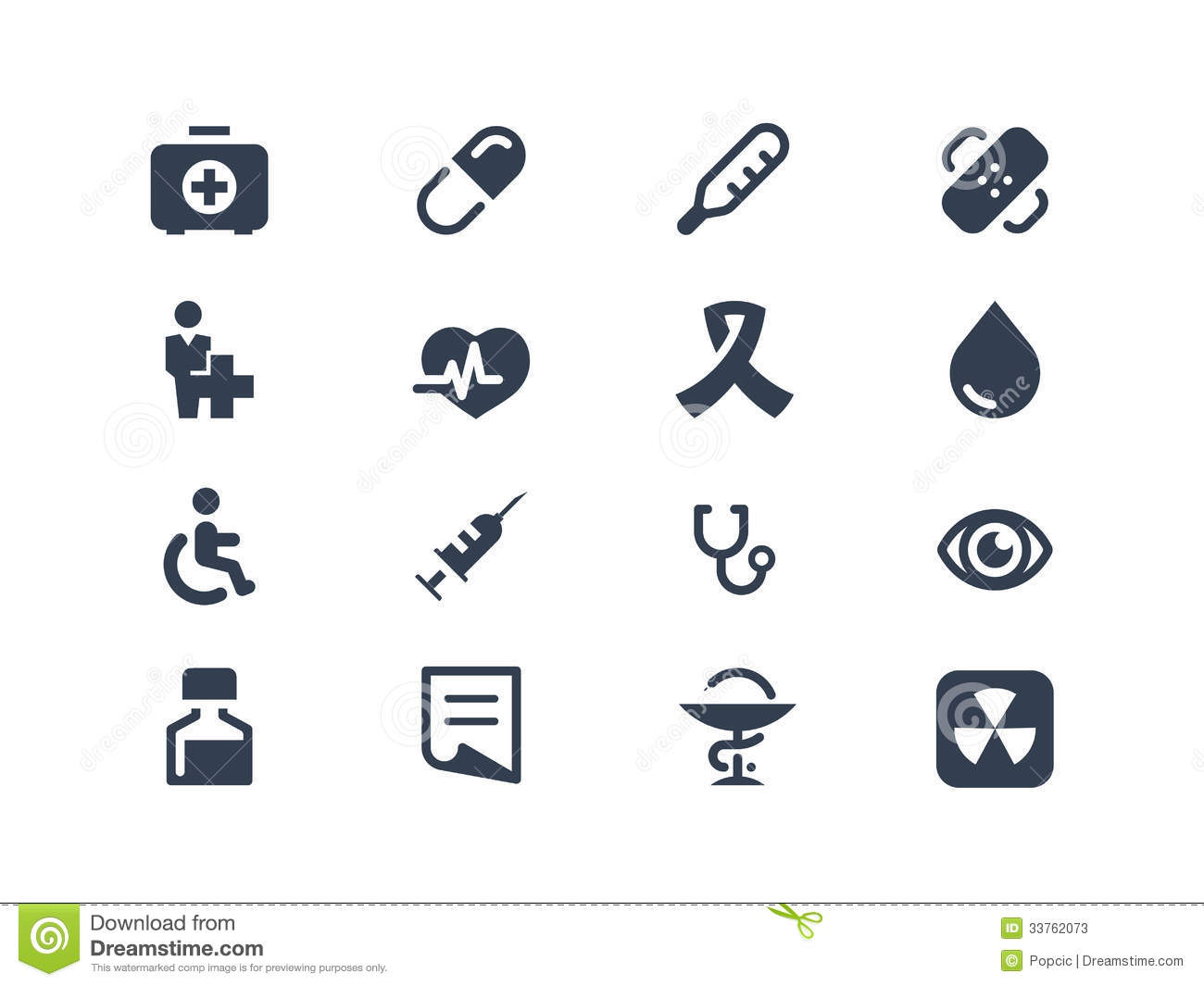 Medical And Healthcare Icons Stock Photos - Image: 33762073