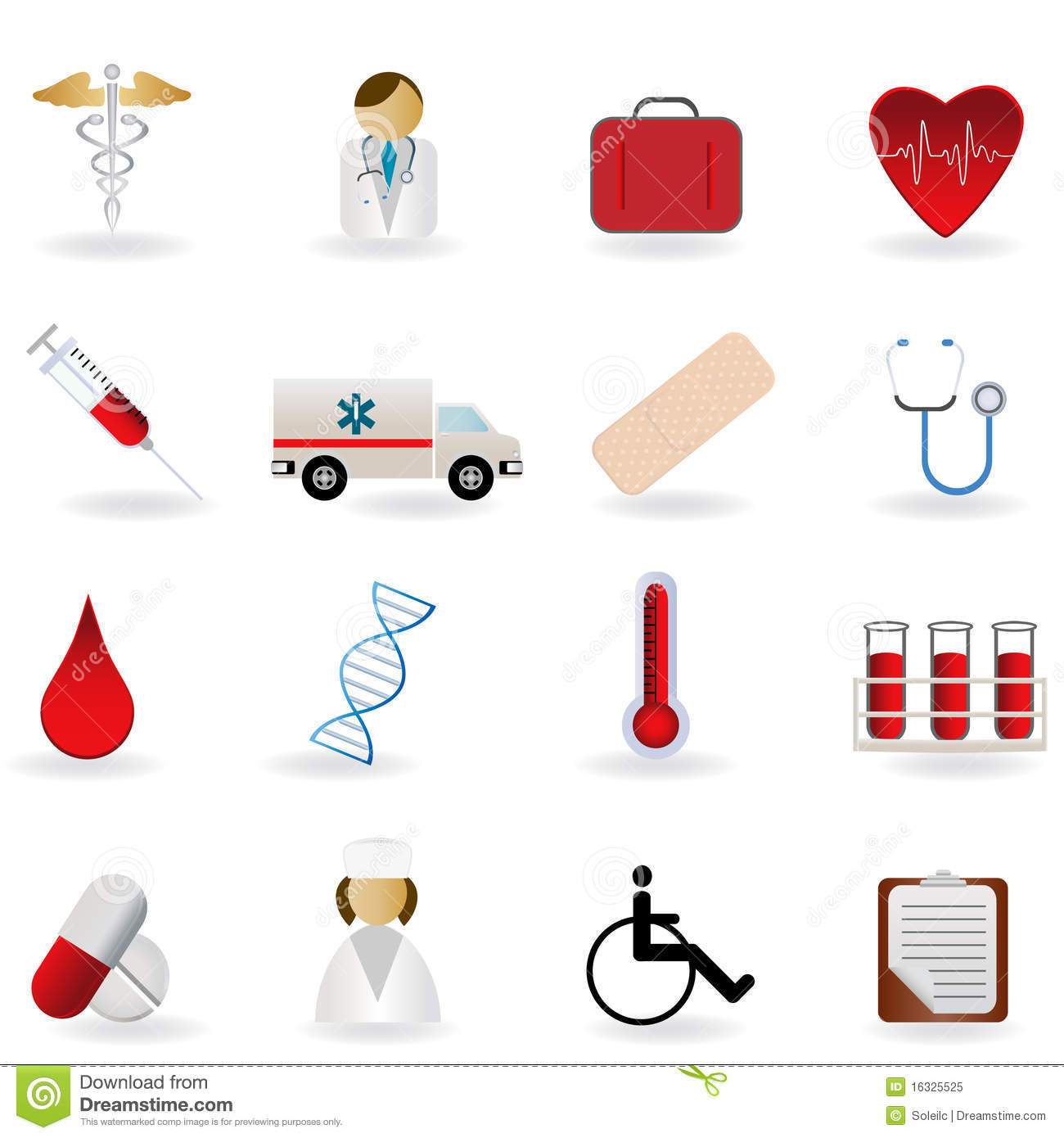 medical and healthcare symbols royalty free stock photo