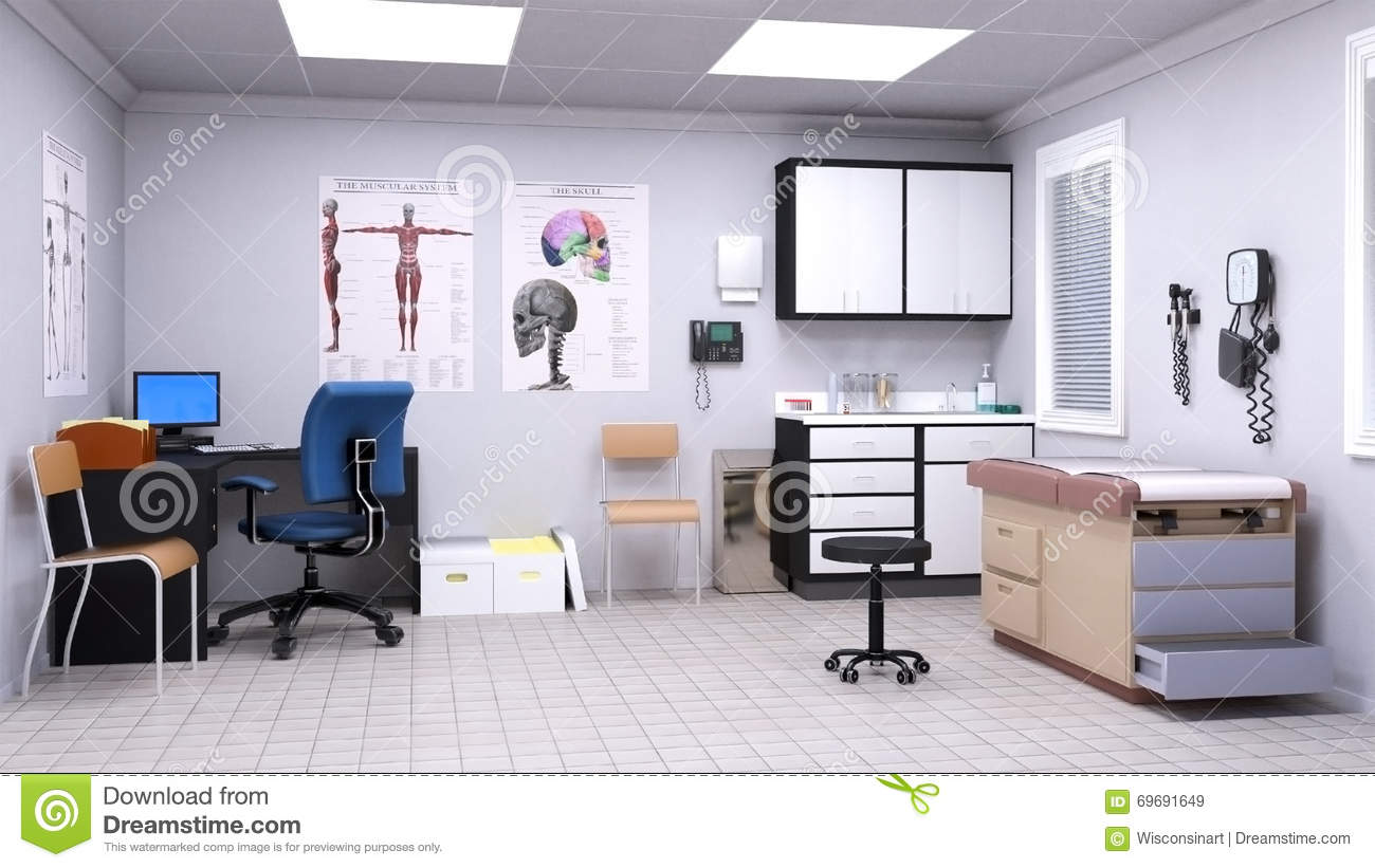 medical hospital doctor examination room stock
