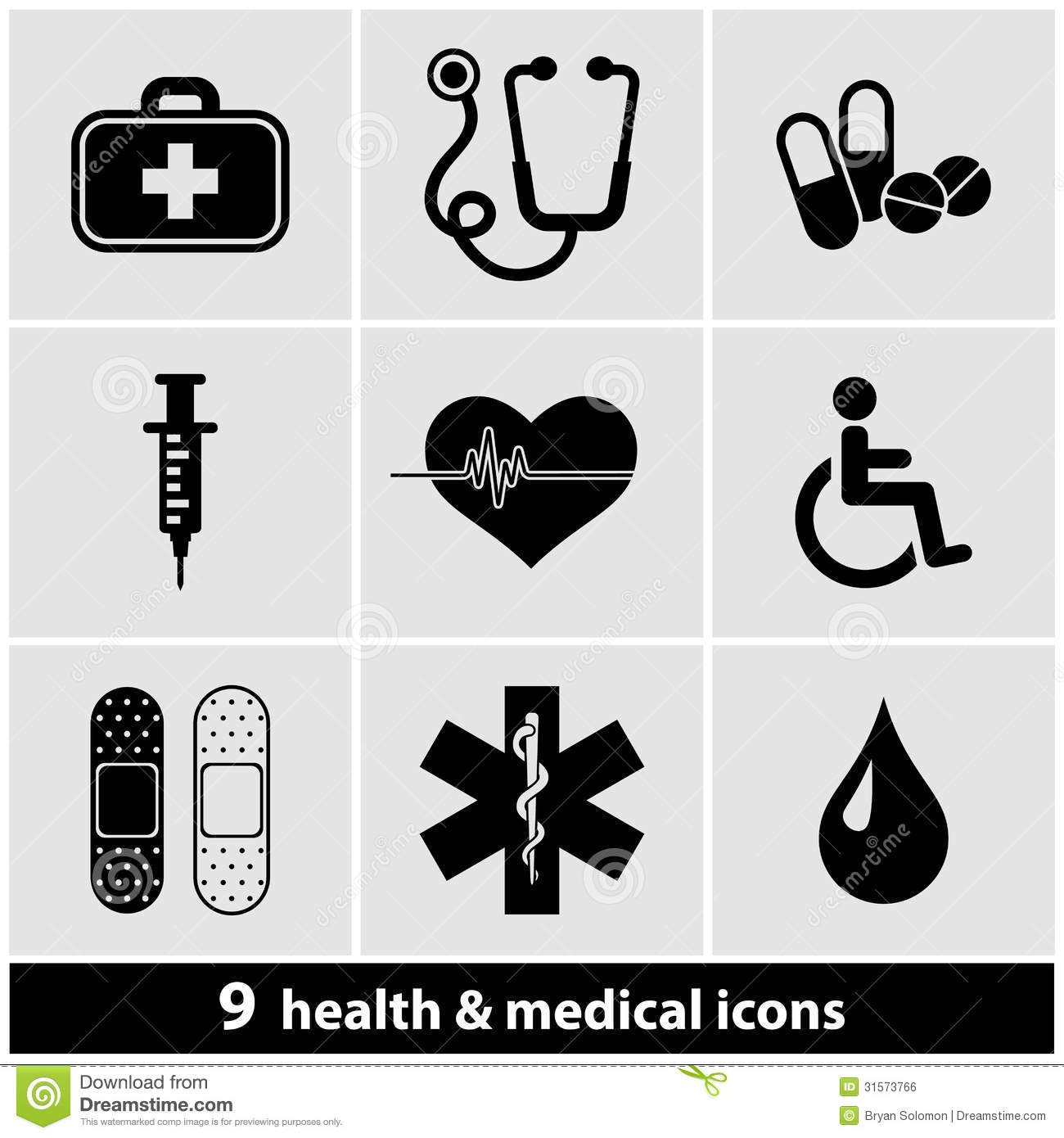 Medical Icon Set Royalty Free Stock Image - Image: 31573766