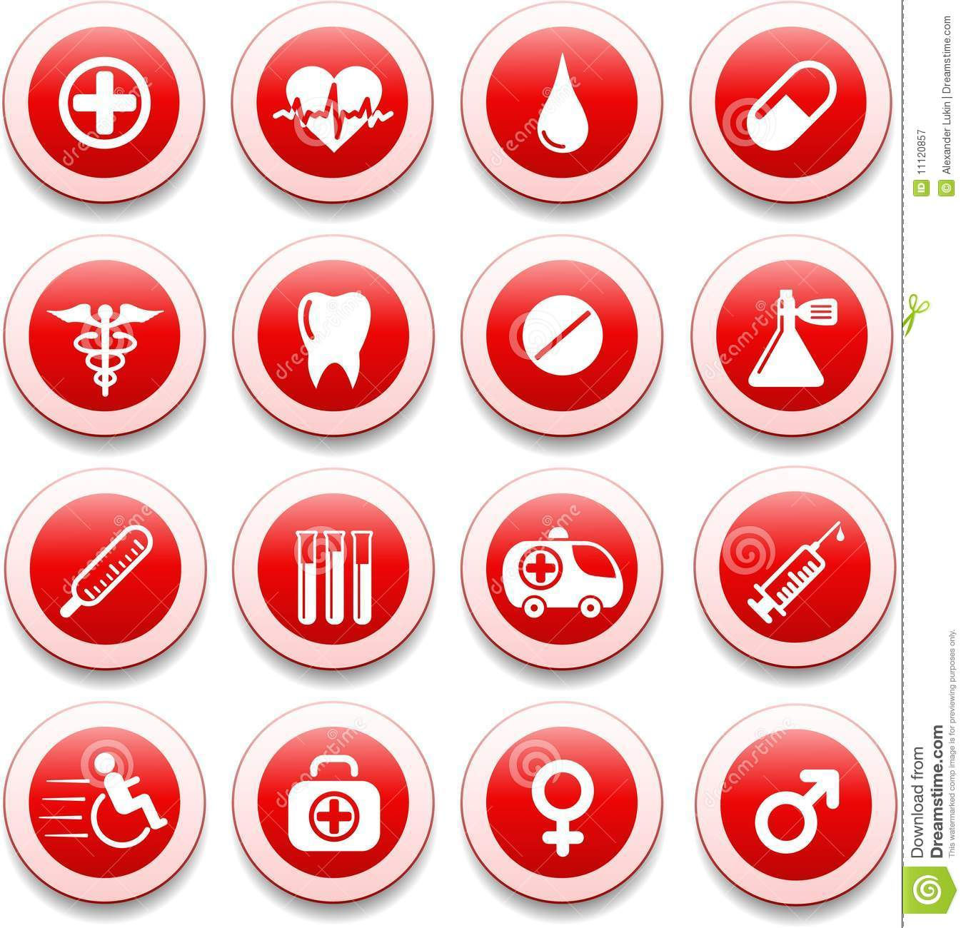 Medical Icons Royalty Free Stock Photography - Image: 11120857
