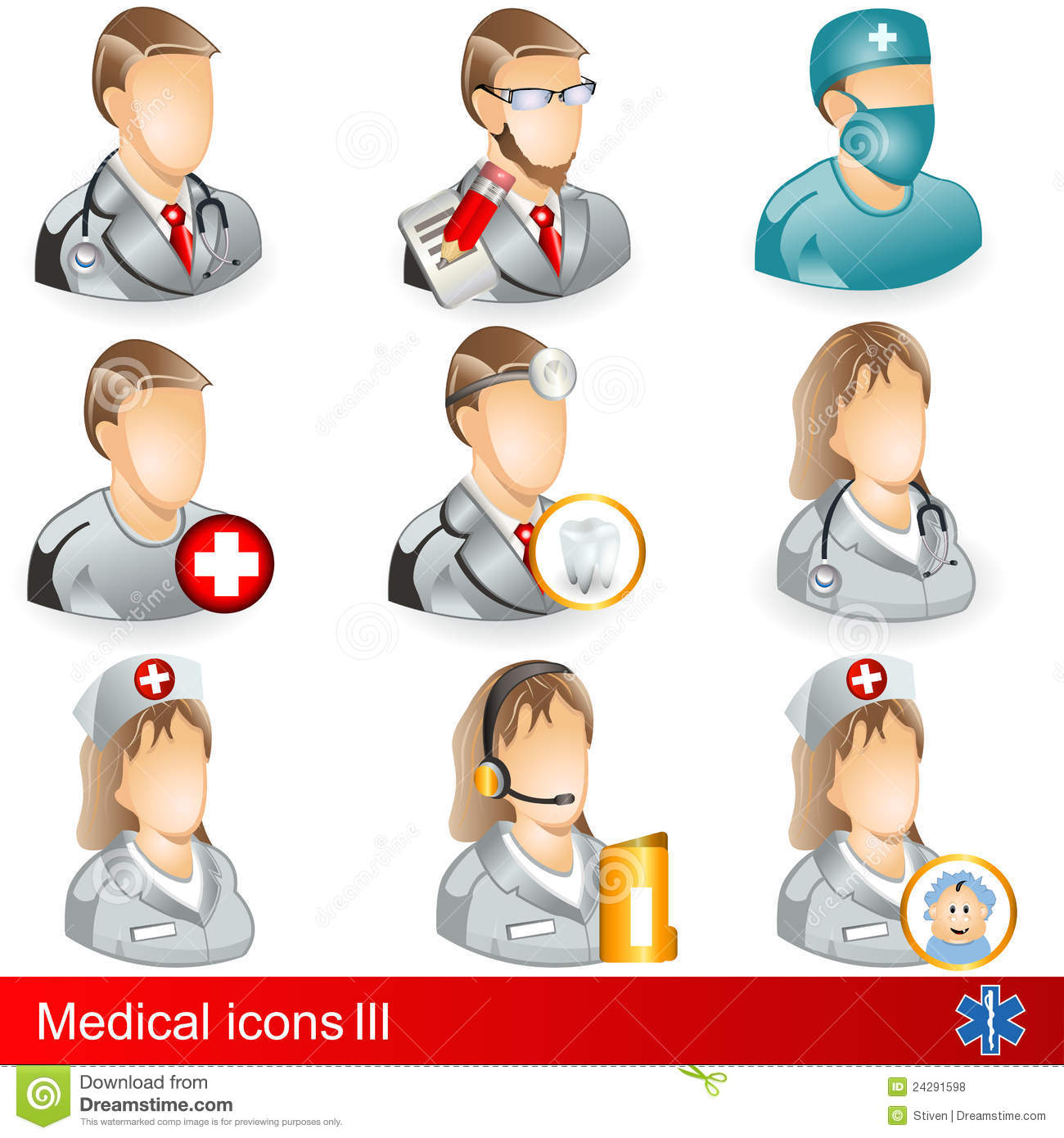 What are the different medical professions?