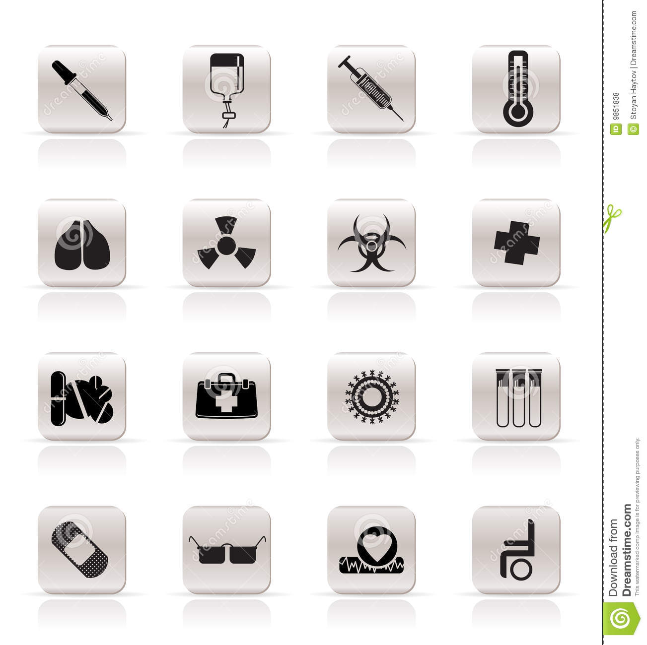 Medical Icons Royalty Free Stock Photos - Image: 9851838