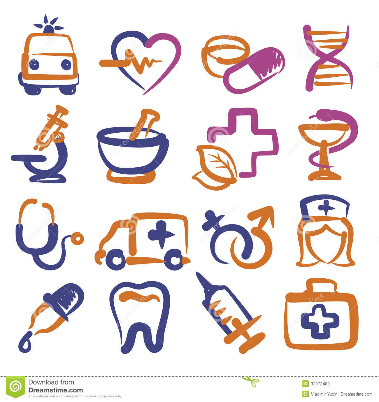 Medical Icons Royalty Free Stock Images Image 32972489
