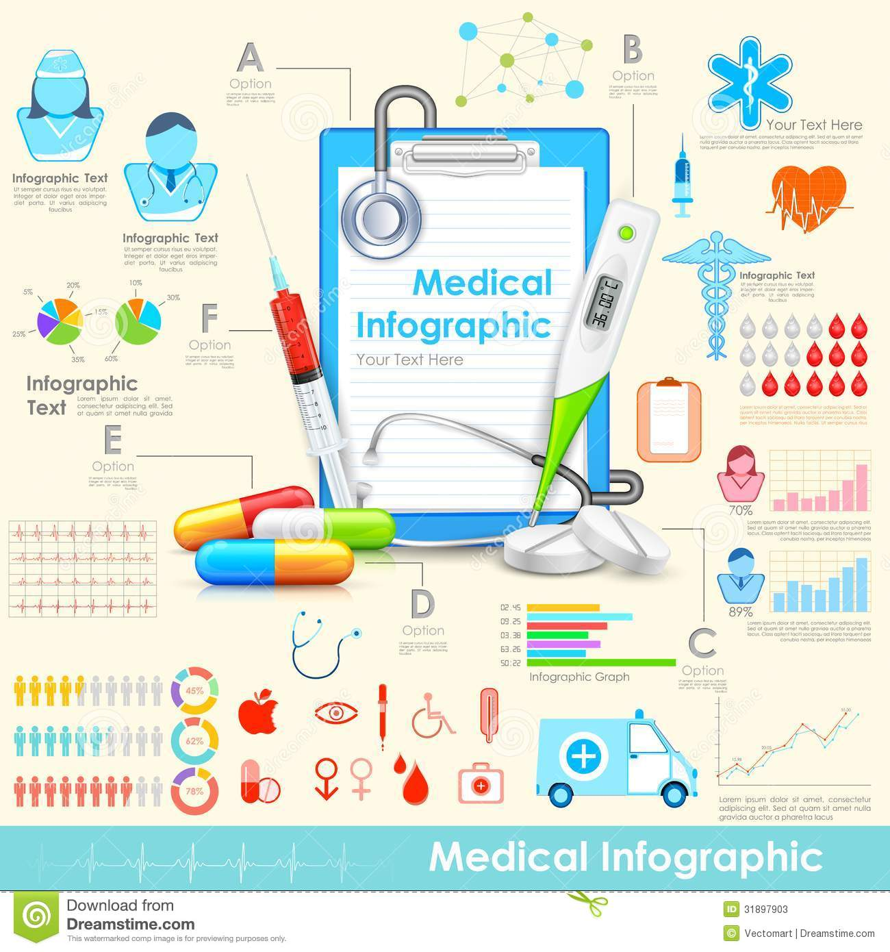 Medical Infographic Stock Photos Image 31897903