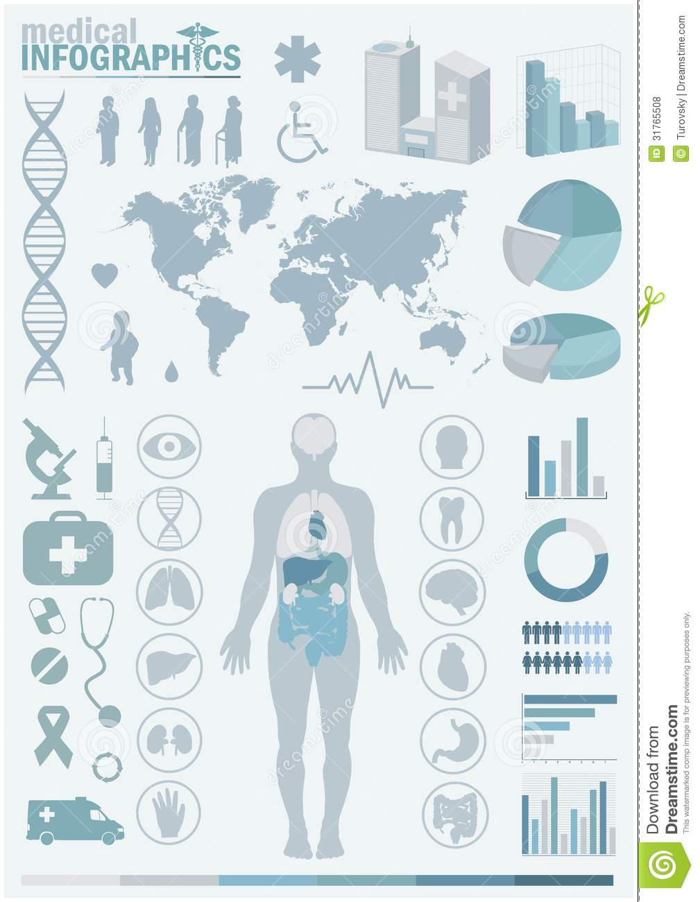 Medical Infographics Stock Vector Illustration Of Illustration