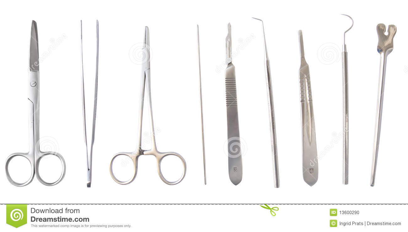 Medical instruments isolated