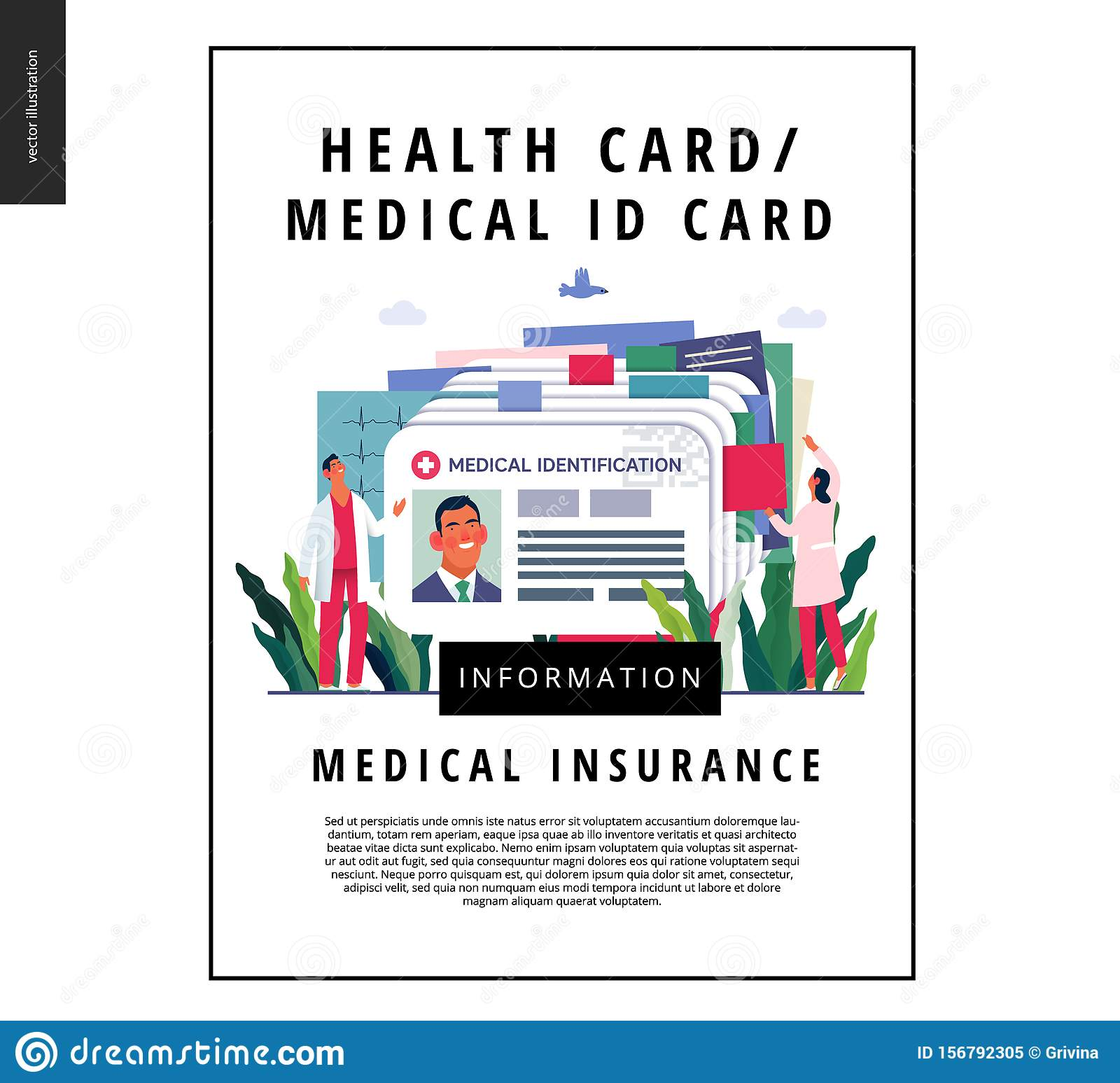 Medical Insurance Template Medical Id Card Health Card Stock