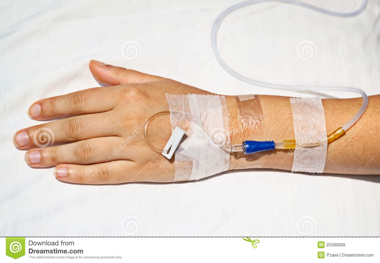 Medical Intravenous Cannula On Hand Royalty Free Stock Images   Image