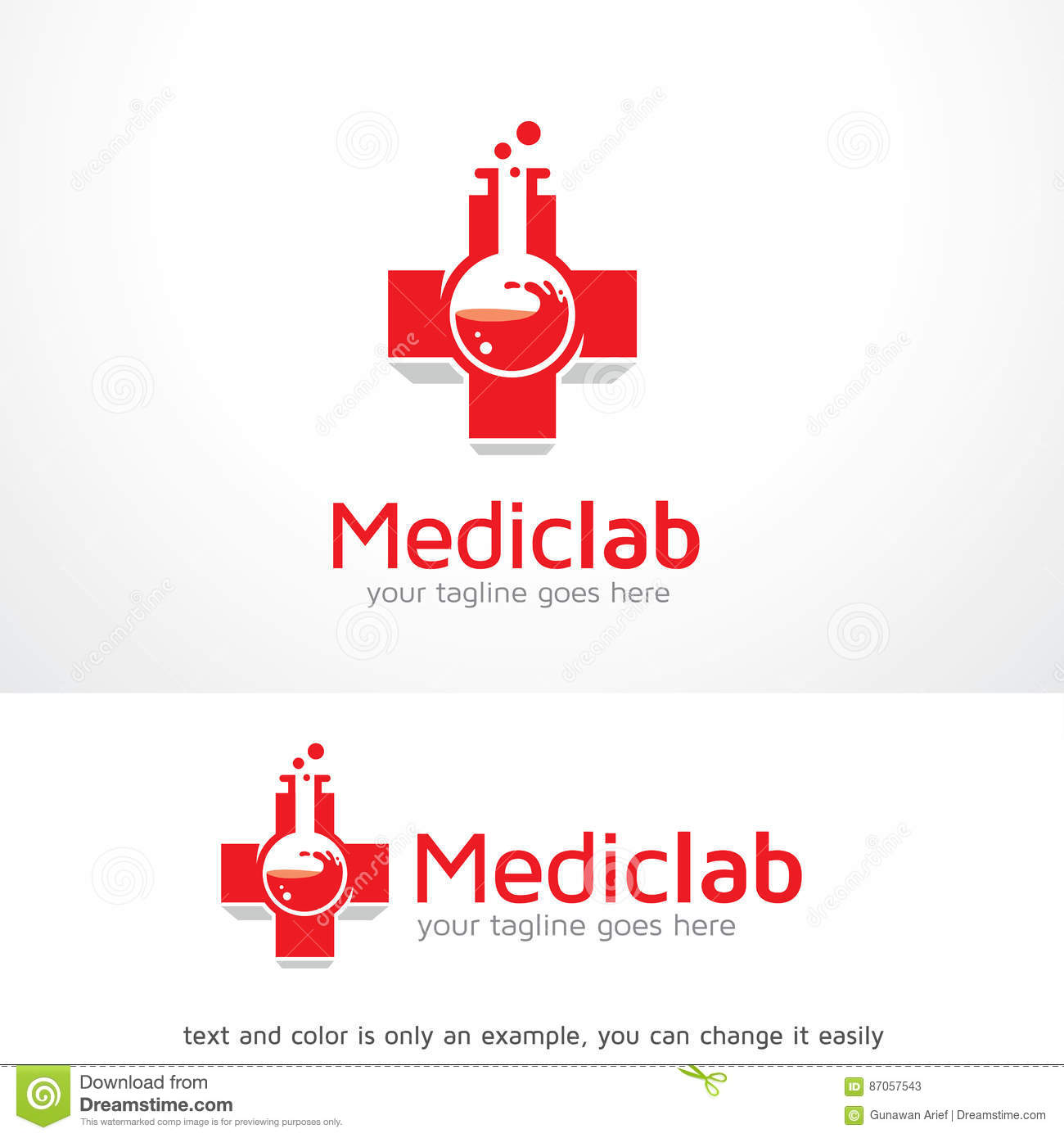 Medical laboratory logo images for Photographie de stock