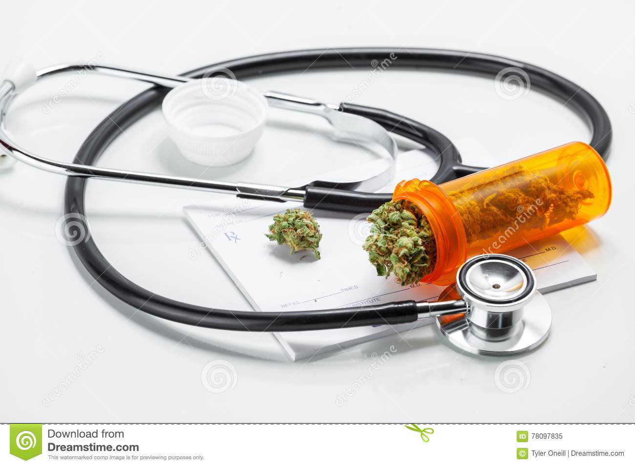 Medical Marijuana Cannabis Buds With Doctors Prescription For We