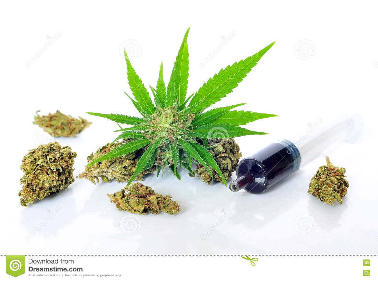 Medical Marijuana And Hash Oil Stock Image Image Of