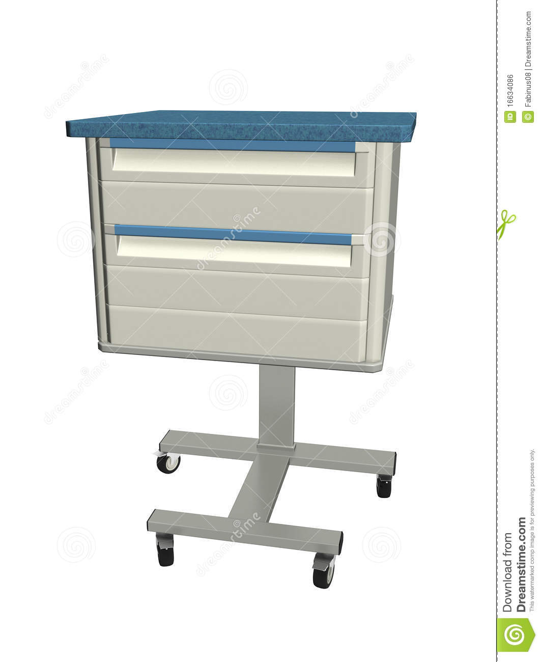 Medical Mobile Bedside Table Royalty Free Stock Image