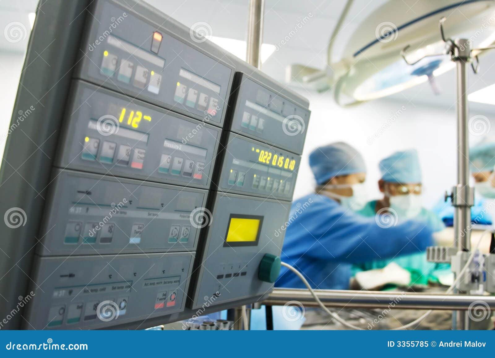 Medical monitor at surgery