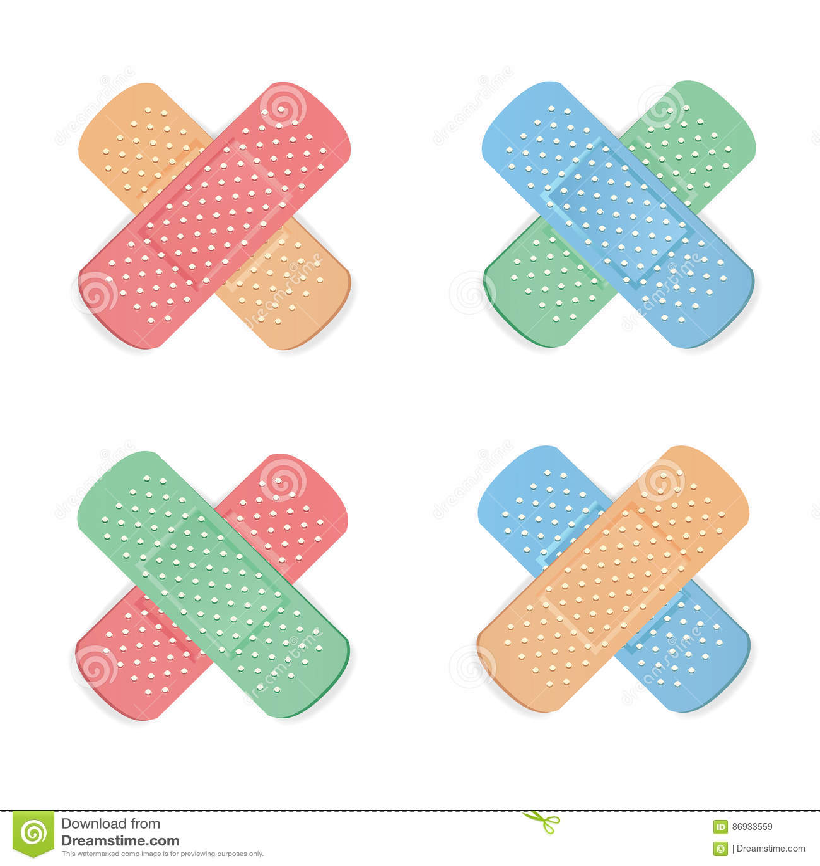 Clip medical strip